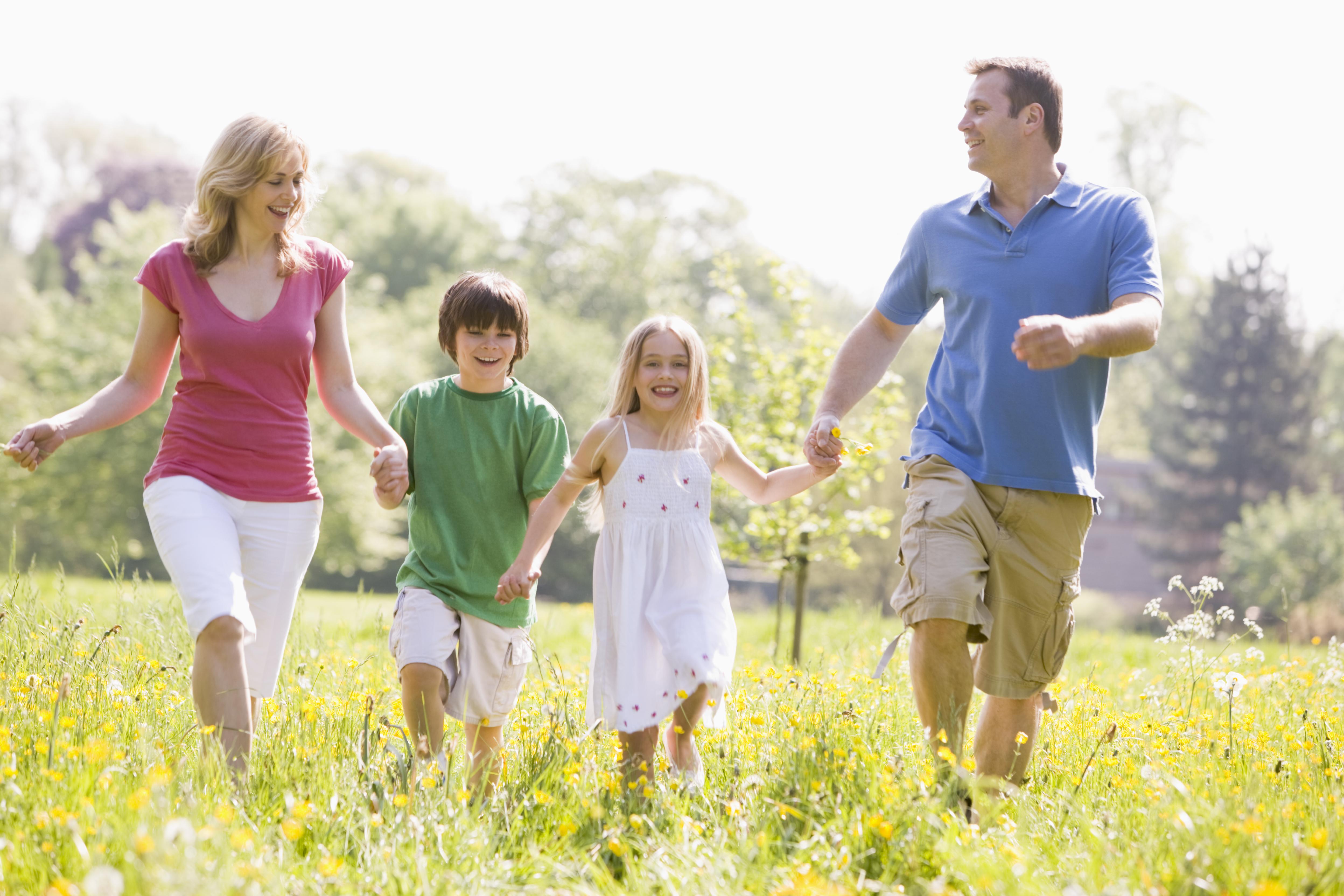 Kako postati telesno aktivna družina?